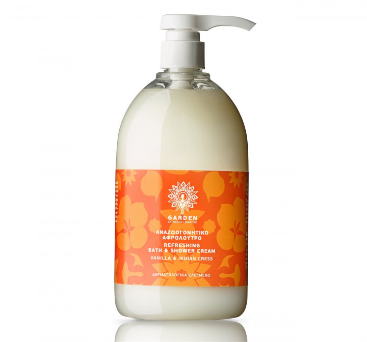 GARDEN refreshing bath & shower cream vanilla & Indian cress 1lt