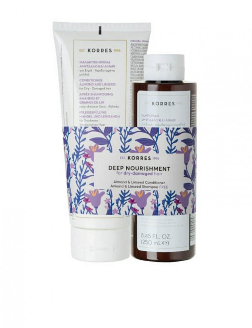 Korres KH Deep Nourishment Conditioner 200ml + Shampoo 250ml
