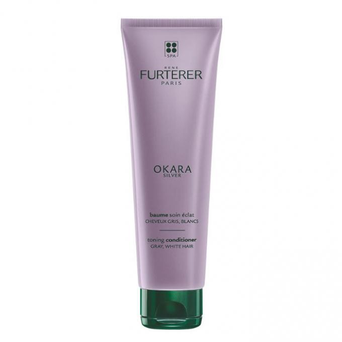 RENE FURTERER OKARA SILVER RADIANCE RITUAL toning conditioner for gray, white hair 150ml