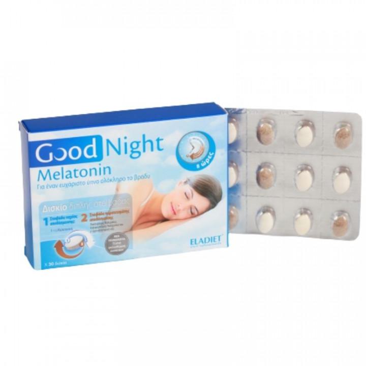 ELADIET Good Night Melatonin 30 Tablets