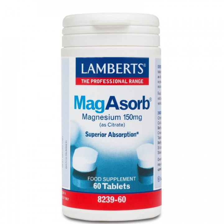 lamberts megasorb magne citrate 150mg 60 tablets