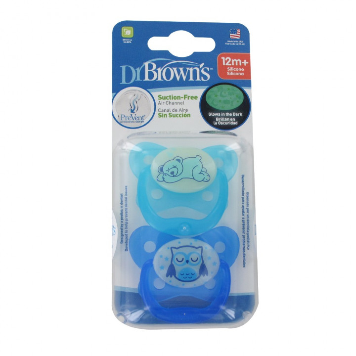 Dr. Brown Butterfly Blue Pacifier (12m+) 2pcs