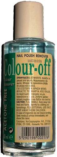 Acetone Colour Off Solution 60ml