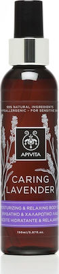 Apivita Caring Lavender Moisturizing And Relaxing Body Oil - 150ml