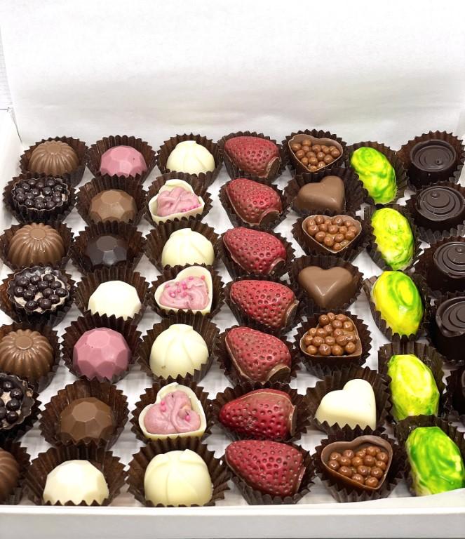 Feelings Chocolate & Wine Artisan Chocolate - Box of 48 Pralines