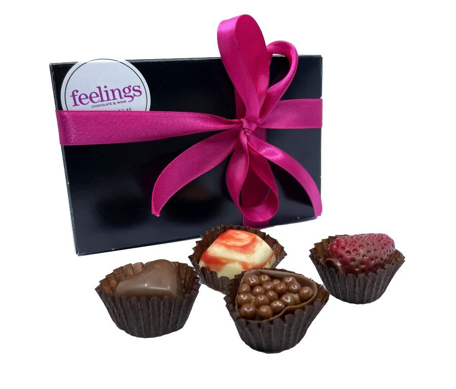 Feelings Chocolate & Wine Artisan Chocolate - Box of 24 Pralines