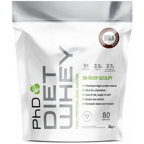PhD Diet Whey 2000 g - 80 Servings - Strawberry Delight