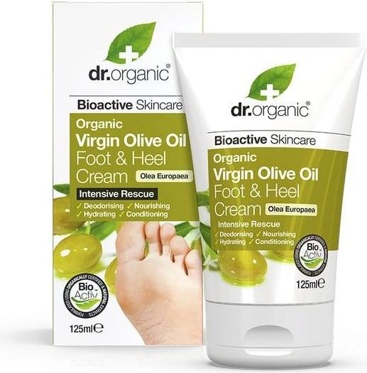 DR ORGANIC VIRGIN OLIVE VIRGIN OLIVE OIL FOOT & HEEL CREAM 125ML