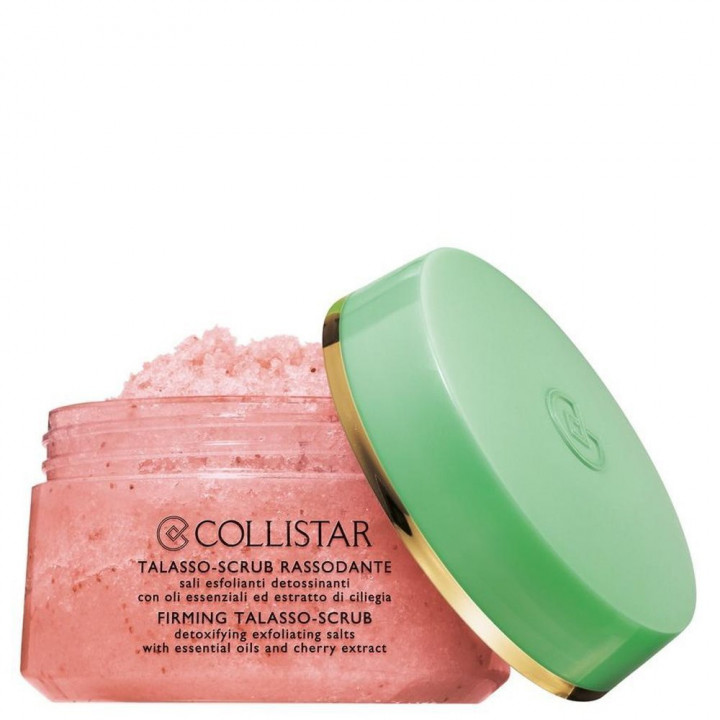 COLLISTAR FIRMING TALASSO-SCRUB DETOXIFYING EXFOLIATING SALTS WITH ESSENTIAL OILS & CHERRY EXTRACTS 300g