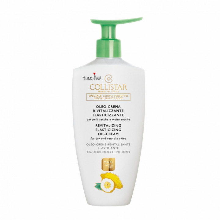 COLLISTAR REVITALIZING ELASTICIZING OIL-CREAM FOR DRY & VERY DRY SKINS WITH CITRUS OF LAKE GARDA EXTRACT 400ml