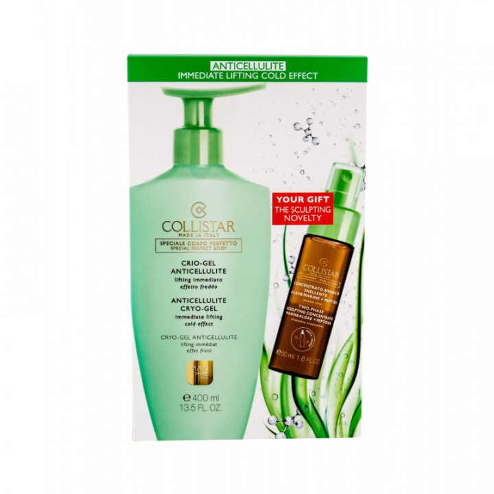 COLLISTAR ANTICELLULITE CRYO GEL 400ML + PURE ACTIVES TWO-PHASE SCULPTING CONCENTRATE 50ML