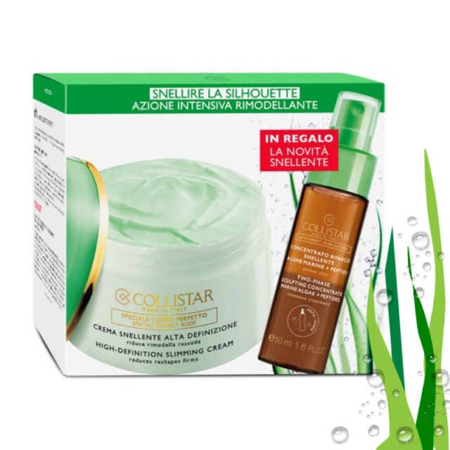 COLLISTAR HIGH-DEFINITION SLIMMING CREAM 400ML + PURE ACTIVES TWO-PHASE SCULPTING CONCETRATE 50ML