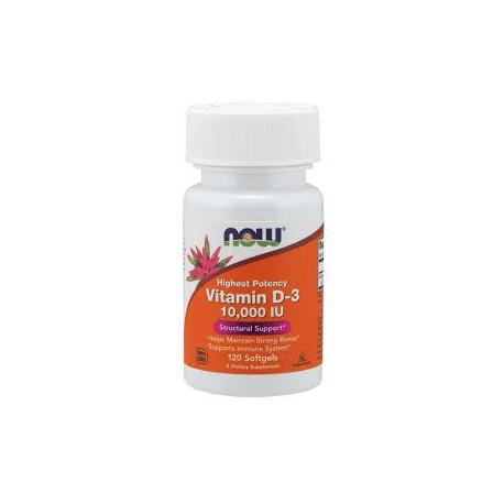 Now Foods Vitamin D-3 High Potency 10,000 IU - 120 Softgels
