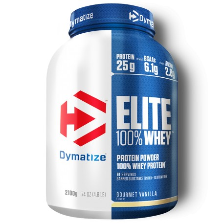 Dymatize Elite Whey Protein 2100 g - 62 Servings - Chocolate Fudge Brownie