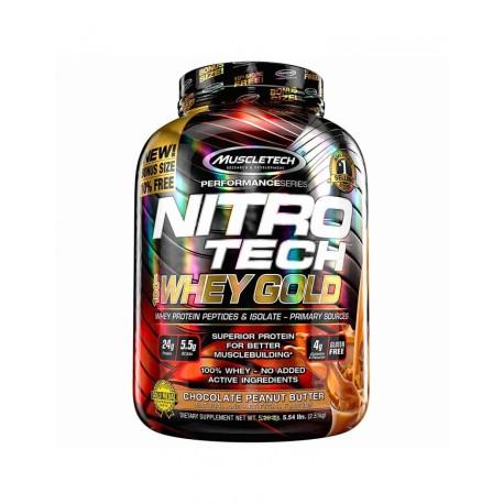 MuscleTech Nitro-Tech 100% Whey Gold 5.5 Lbs - Cookies & Cream