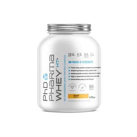 Phd Pharma Whey HT+ Protein Powder 2.25 kg - Banana