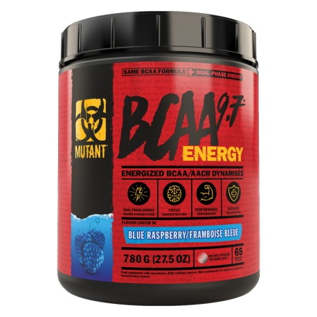 Mutant BCAA 9.7 Energy - 780 g - 65 Servings - Blue Raspberry