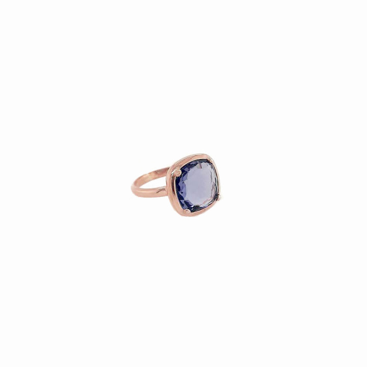 Silver Pink Goldplated Ring - Size 15