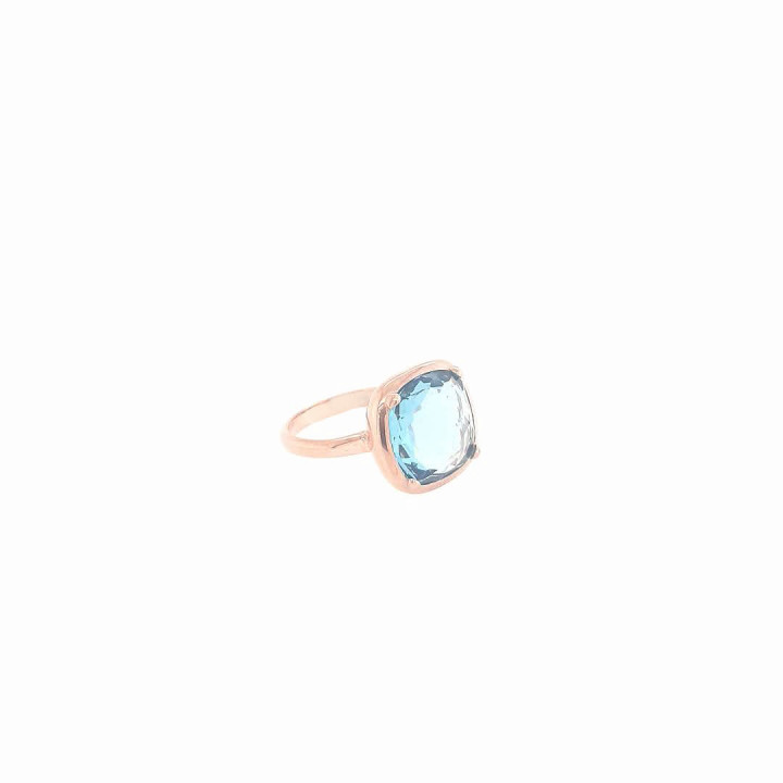 Silver Pinkplated Ring - Size 15