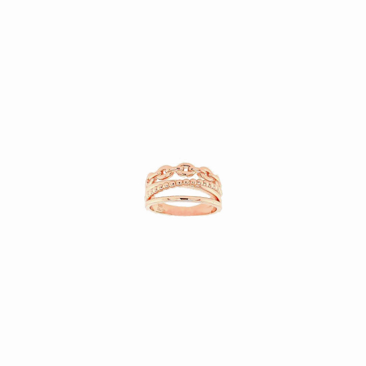 Silver Pinkplated Ring - Size 16