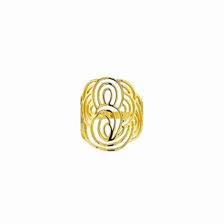 Silver Goldplated Ring - Size 15