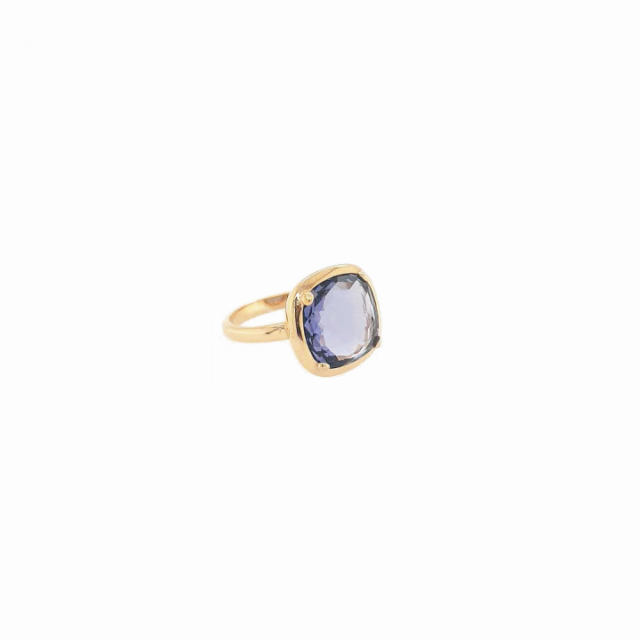 Silver Pink Goldplated Ring - Size 14
