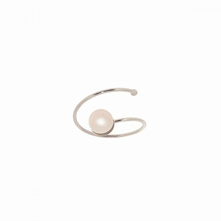 Silver White Goldplated Ring - Size 14