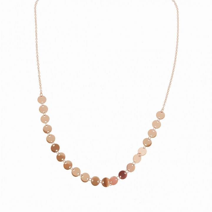 Silver Pinkplated Necklace
