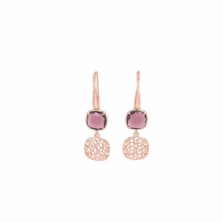 Silver Pinkplated Earrings