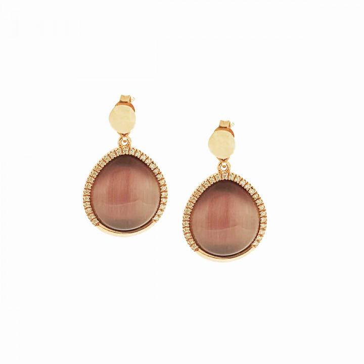 Silver Pinkplated Earrings