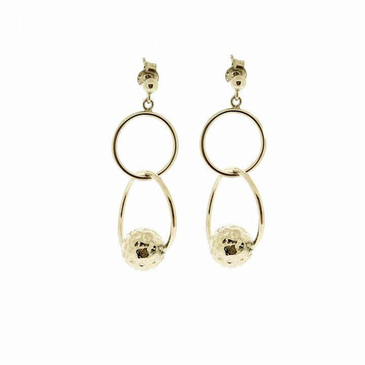 Silver Pink Goldplated Earrings