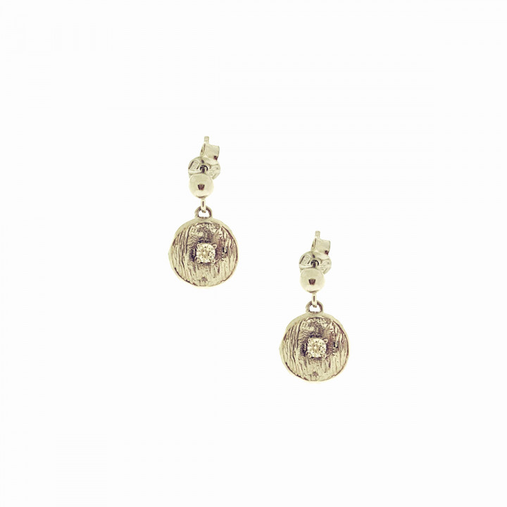 Silver Pink Goldplated Earrings