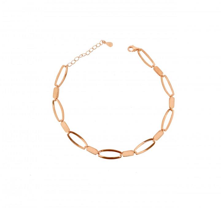 Silver Pinkplated Bracelet