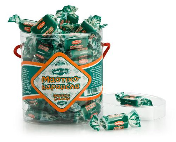 Mastic candy toffee. Oval Box 250gr