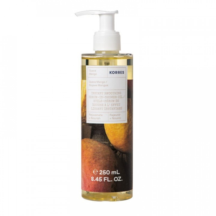 KORRES INSTANT SMOOTHING SERUM IN SHOWER OIL GUAVA MANGO 250ml