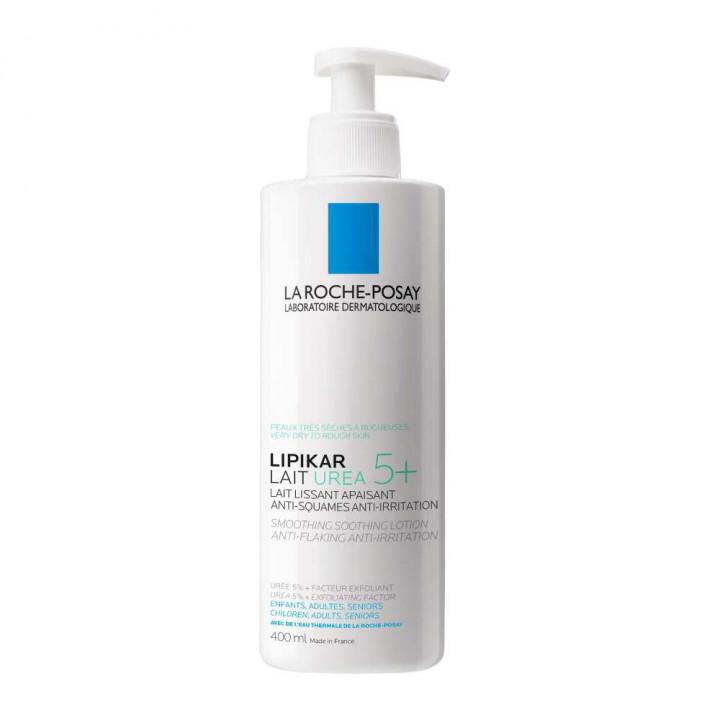 LA ROCHE POSAY LIPIKAR LAIT UREA 5+ smoothing soothing lotion anti-flaking anti- irritation 400ml