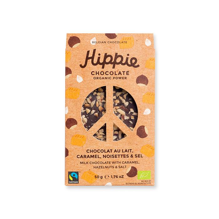 Organic Milk Chocolate, Caramel, Hazelnuts & Salt