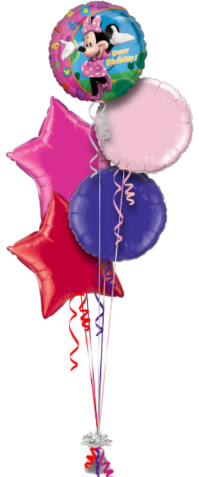 Minnie Mouse Birthday 5 Foil Balloons