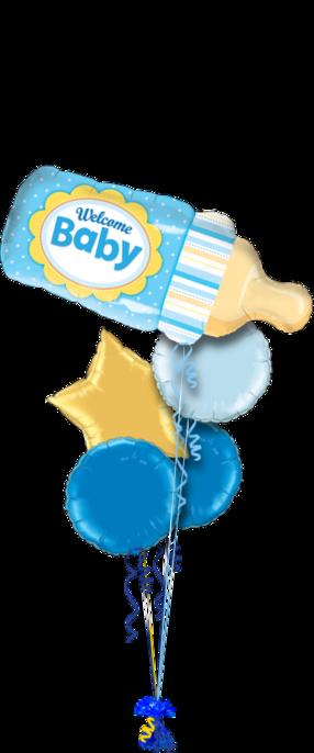 Baby Boy Balloons Bouquet 5 Foil