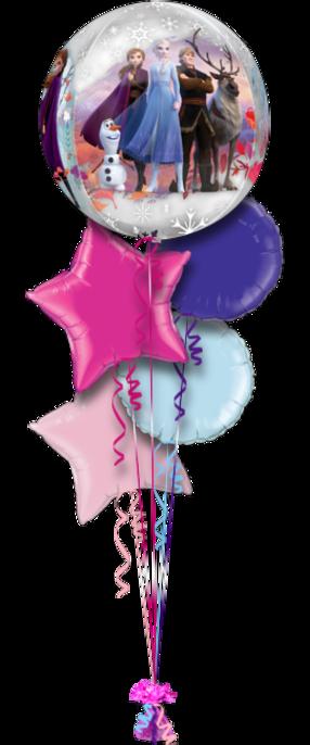 Frozen Birthday 5 Foil Balloons