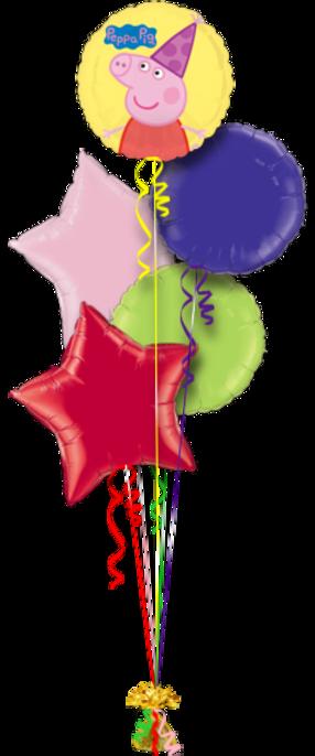 Pepa Pig Birthday 5 Foil Balloons