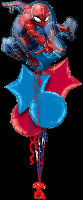 Spider Man Birthday 5 foil Balloons