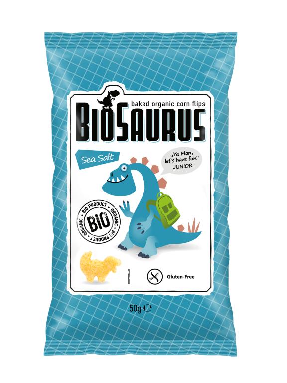 BIOSAURUS SEASALT CHIPS 50G BIO