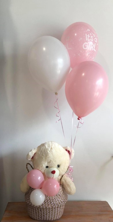 Teddy and balloons