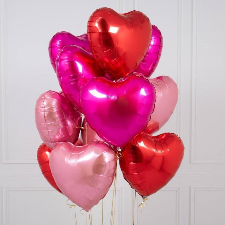 5 Heart Foil Bouquet - 18inches