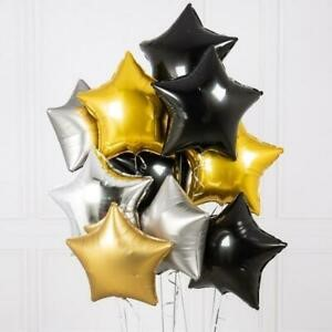 Star foil balloons - Black - 18 inches