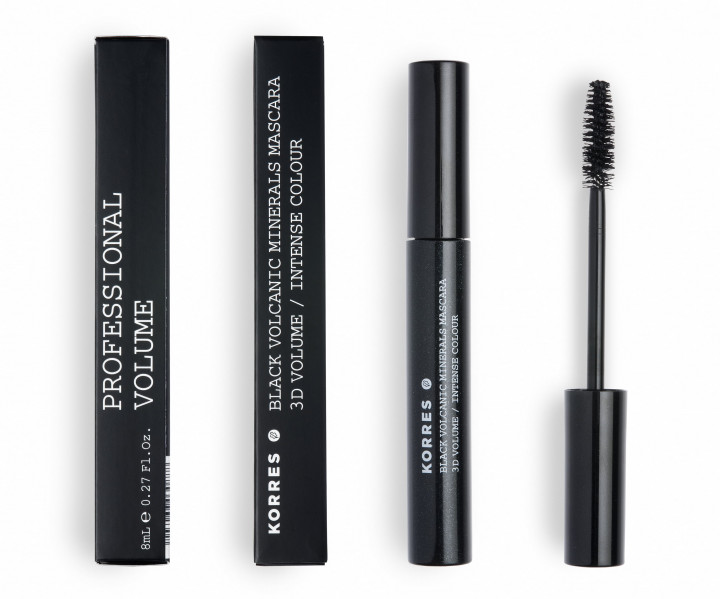 Korres BLACK VOLCANIC MINERALS 3D MASCARA - SHADE BLACK 01 - 8ml