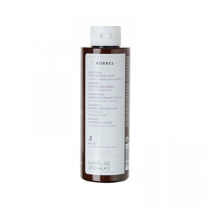 Korres ALMOND & LINESEED SHAMPOO FOR DRY / DAMAGED HAIR - 250ML