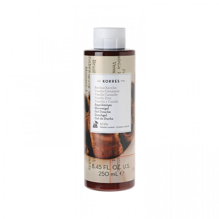 Korres VANILLA CINNAMON SHOWER GEL - 250ml