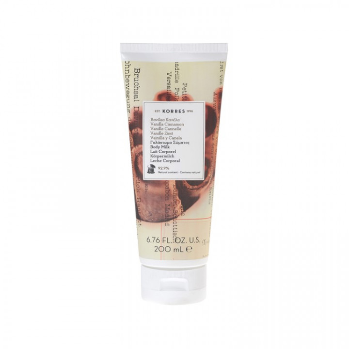 Korres Vanilla Cinnamon BODY MILK - 200ml